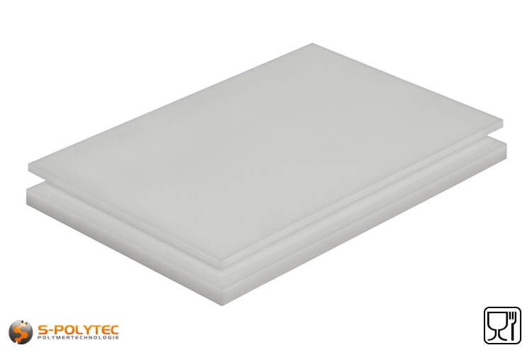 Polyethylen (PE-HD) Platten natur mit glatter Oberfläche in Stärken von 1mm - 20mm im Zuschnitt