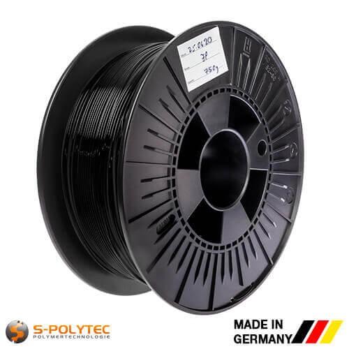 0,75kg Hochwertiges PLA-Filament schwarz (ähnlich RAL9005, Tiefschwarz) für 3D-Drucker - Made in Germany