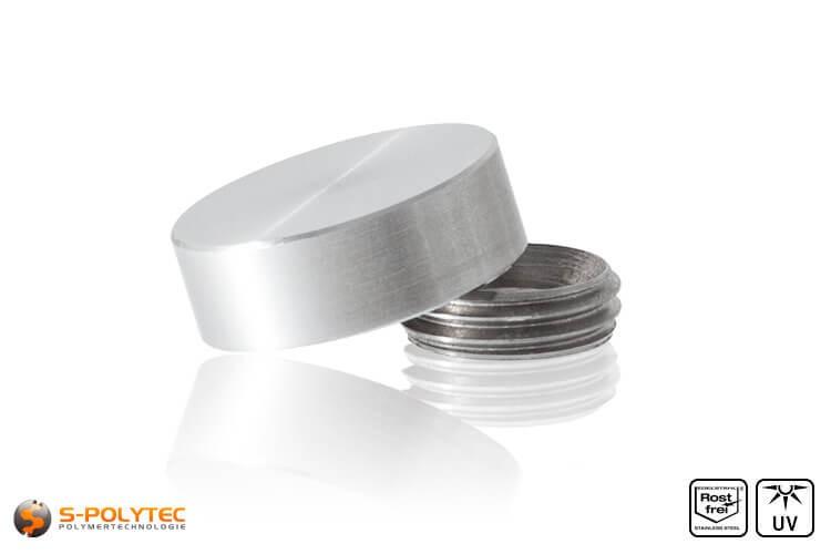 Schrauben-Abdeckkappen 15mm mit Gewindering aus rostfreiem Edelstahl