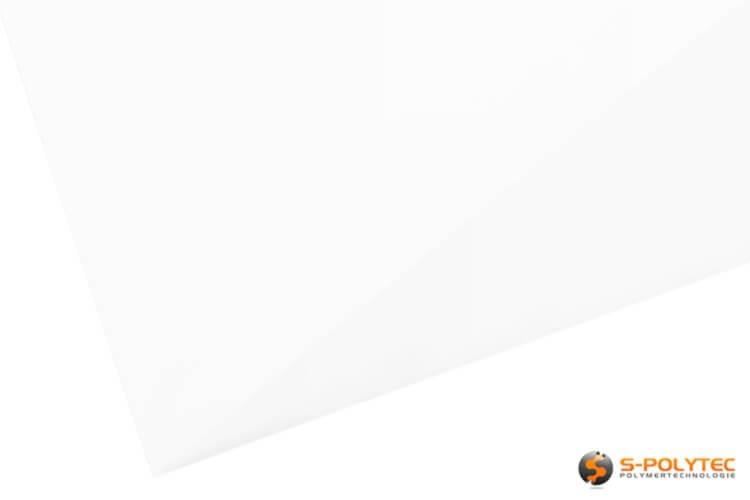 Hochglanzoberfläche in Weiß der DecoVitas Snow-White Dekorplatten - Detailansicht