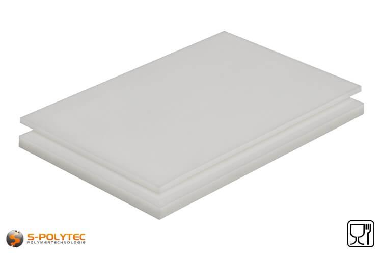 Polypropylen Platten (PP-H) natur als Standardplatte 2,0 x 1,0 Meter in Stärken von 1mm - 40mm