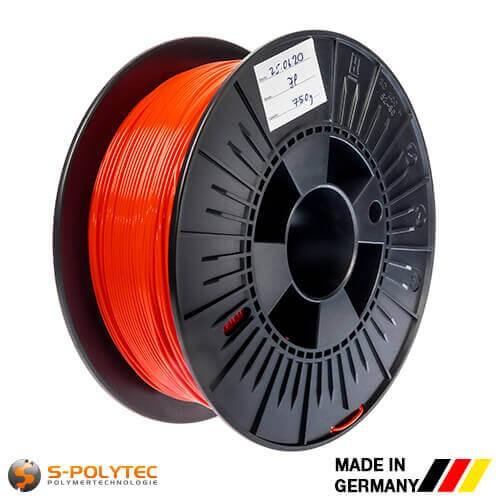 0,75kg Hochwertiges PLA-Filament rot (ähnlich RAL3028, Reinrot) für 3D-Drucker - Made in Germany