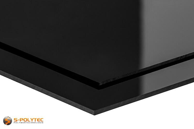 Schwarzes HIPS als Standardplatte in Stärken von 2mm - 3mm - Detailansicht