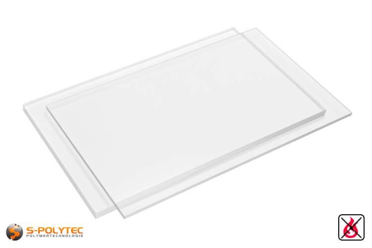 PVC Platten transparent aus Hart-PVC (PVCU) in Stärken von 1mm - 15mm im Format 2,0 x 1,0 Meter