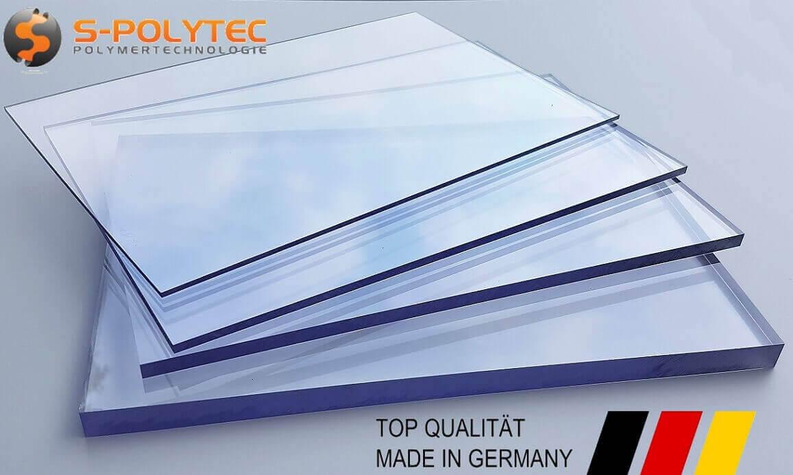 Polycarbonat Beispiel Platten - Polycarbonat ist ein sehr schlagfester und transparenter Kunststoff