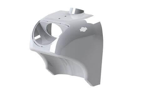 Beipsiel eines aus tiefziehfähigen Kunststoffplatten hergestellten Kunststofffertigteils