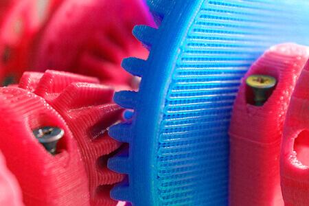 Zahnräder im 3D-Druck-Verfahren aus Filamente